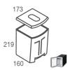 R111163.CM - Vitrifrigo 9 liter melkbak met deksel