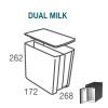 R111163.CD - Vitrifrigo 9 liter DUO melkbak met deksel
